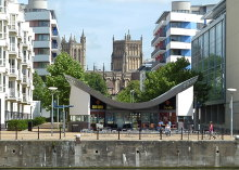 Bristol Cathedral seen from the harbourside © Anthony O'Neil